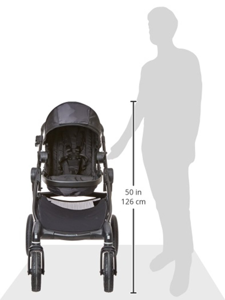 Baby Jogger City Select Single Stroller Black  From 6 months -15 kg Patented Quick-Fold Technology- fold your stroller in one step 16 possible seating combinations (with double conversion kit sold separately) 12