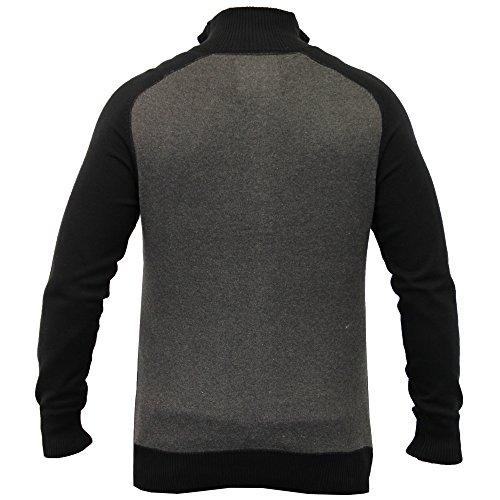 Herren Geschnittet Hochkragen Strickjacke Pullover Winter Pullover By Dissident Dunkelgrau - 1B8291