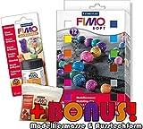Staedtler FIMO 12er Materialpackung + Glanzlack Set inkl. BONUS