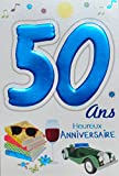Age MV 69–2034Karte Geburtstag 50Jahre Menschenrechte Motiv Auto-Collection Wein Lesung Bücher Sonnenbrille