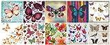 Zita's Creative Servietten Set mit Decoupage-Kleber - Schmetterlinge, Decoupage, Serviettentechnik,