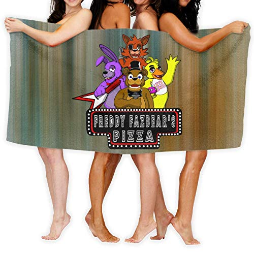 "Five Nights at Freddy's 'Freddie Large Beach Blanket Towel Ultra Soft Super Water Absorbent Multi-Purpose 31"" X 51"""