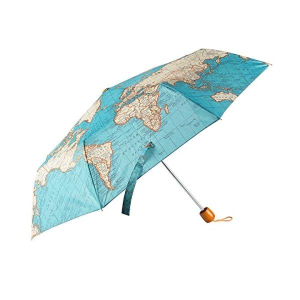 nos encanta este precioso paraguas con mapa del mundo
