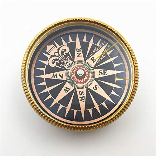 KLQQL Bronze-Kompass, Kompass-Geschenk-Kompass, Hohe Empfindlichkeit, Positionierung Auf Dem Bergcamping (Positionierung Schlüsselband)