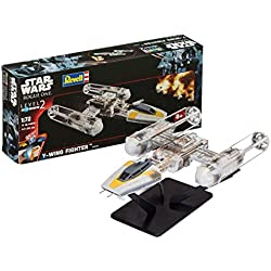Revell- Maqueta Star Wars Y-Wing Fighter, Easy Kit Modelo, Escala 1:72 (6699)(06699), 22,1 cm de Largo (