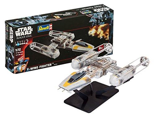 Revell Modellbausatz Star Wars Y-Wing Fighter im Maßstab 1:72, Level 2, originalgetreue Nachbildung mit vielen Details, Steckmechanismus, mit vorbemalten und vordekorierten Teilen, ()