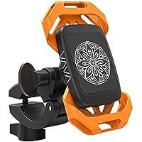 VAVA Soporte Móvil Bicicleta Magnético Montaje en la Horquilla, Giratorio 360 Grados, un Solo Botón para Desmontar, Brazo Ajustable 2 Correas de Caucho para iPhone 7 Plus/7/6s/5s/4s, Galaxy S8/S7/S6