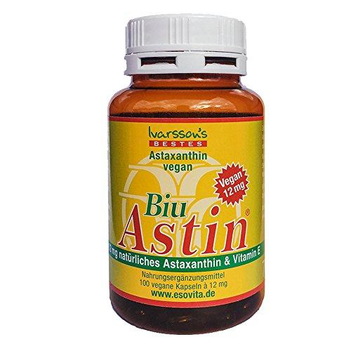 Astaxanthin - aus Hawaii - BiuAstin 100 Kapseln mit 12 mg natürlichem Astaxanthin - Das Original Ivarsson's BiuAstin!