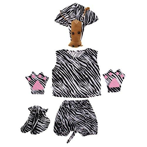 Kind Kostüm Zebra - MagiDeal Kinder Tier Kostüm - Zebra