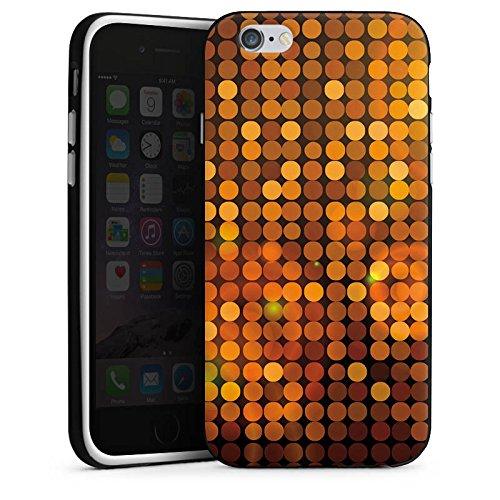 Apple iPhone 5s Housse Étui Protection Coque Discothèque Paillettes Fête Housse en silicone noir / blanc