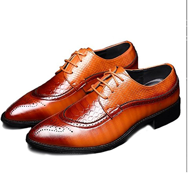 Xiazhi-scarpe, Scarpe in Pelle Pelle Pelle PU da Uomo Hollow Carving Splice Pelle di Serpente Texture Upper Lace Up Business... | Varietà Grande  d1e9ee