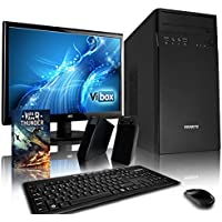 "VIBOX Tower Desktop PC Package 1 - with Windows 10 OS, WarThunder Game Bundle, 19"" Monitor, Speakers, Keyboard & Mouse (3.9GHz AMD A4 Dual Core Processor, Radeon Graphics Chip, 1TB Hard Drive, 8GB RAM)"