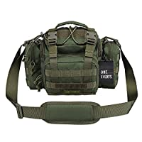 OneTigris Tactical Deployment Bag with Shoulder and Waist Strap (Green)