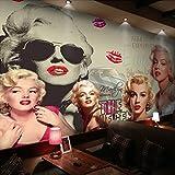 Carta da parati 3D murale Classic Movie Star 3D Poster Parete Pittura Camera da letto Soggiorno Sfondo carta da parati Home Decor Invia colla 450x300cm