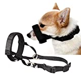 Barkless Quick Fit Nylon Dog Muzzle, Adjustable Loop, Anti-Barking, Bting and Chewing Muzzle