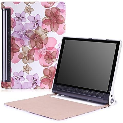 Lenovo Yoga Tab 3 pro Funda - MoKo Ultra Lightweight Slim-shell Stand Cover Funda para Lenovo Yoga Tab 3 Pro 10.1 Inch Tablet, Floral Violeta