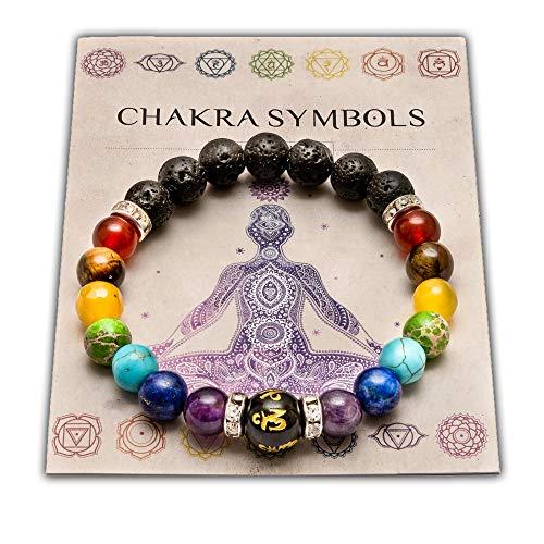 Wiccan Star Doppelt Natur Chakra Armband mit schmuckschatulle & bedeutung Karte