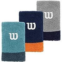 Wilson Extra Wide Wristband NAVY WIL/Dark  - Muñequera unisex, color azul, talla OSFA