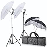 Neewer® Off Camera Double Speedlight Flash Shoe Mount Swivel Soft Umbrella Kit for Canon 430EX II, 580EX II, 600EX-RT, Nikon SB600 SB800 SB900, Youngnuo YN 560, YN 565, Neewer TT560, TT680, TT850, TT860
