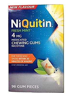 NiQuitin Gum 4mg - Fresh Mint-FREE UK DELIVERY