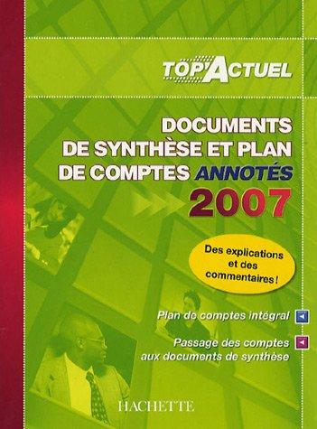 Documents de synthèse et plan de comptes annotés par Patricia Charpentier