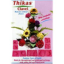 Renkalik Thikas Clavel para Flores, Contiene 5 Pares de moldes