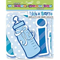 Unique Party 90509 - 1,4 m Festone Lettere It's a Boy per Baby Shower