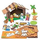 Baker Ross Kit de espuma de natividad estable - Creative Christmas Art...