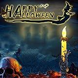 TAOtTAO 1pcs Stück Halloween Kerze mit LED Teelicht Kerzen für Halloween Dekoration Teil (C)