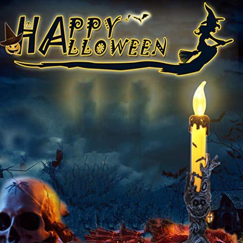 (TAOtTAO 12 Stück Halloween Kerze mit LED Teelicht Kerzen für Halloween Dekoration Teil (C))