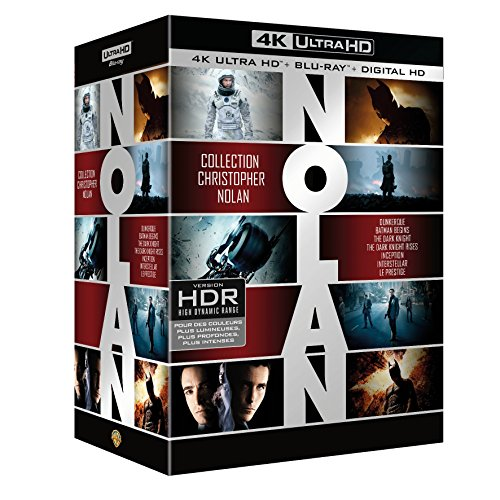 Coffret Christopher Nolan 7 Films : Dunkerque (Dunkirk) / Interstellar / Inception / Batman Begins / The Dark Knight / The Dark Knight Rises / Le Prestige - Blu-Ray 4K + Blu-Ray [4K Ultra HD + Blu-ray + Digital HD]