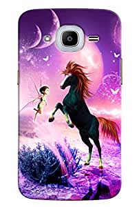 Omnam Horse And Angel Printed Designer Back Cover Case For Samsung Galaxy J2 2016