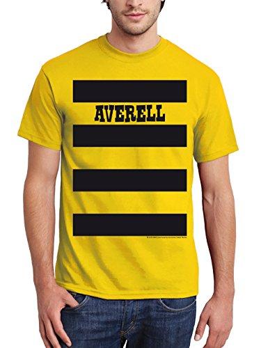 Gruppe Eine Kostüm - clothinx Herren T-Shirt Lucky Luke Karneval 2019 Die Daltons Gruppen-Kostüm Gelb/Averell Größe L