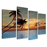 Bild & Kunstdruck der deutschen Marke Visario 130 x 80 cm 6144 Bilder auf Leinwand Kunstdrucke Palmen Wandbild