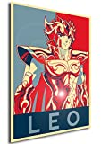 "Poster Saint Seiya ""Propaganda"" Leo Aiolia - Formato A3 (42x30 cm)"