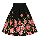 Search : Crazycatz® Women Vintage Fifties Style Floral Full Circle Skirt Pink Rose Print