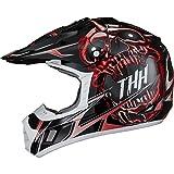 THH tx-12# 21Demon Motocross Helm M Schwarz/Rot