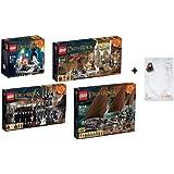 """Lego Señor de los Anillos establece 79005 79006 79007 79008 Notepad + """"El Hobbit"""""""