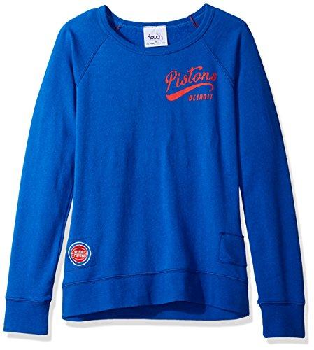NBA Damen Sweatshirt Atlanta Hawks Dugout Reversible Pullover, Damen, Touch Dugout Reversible Sweatshirt, königsblau, Small