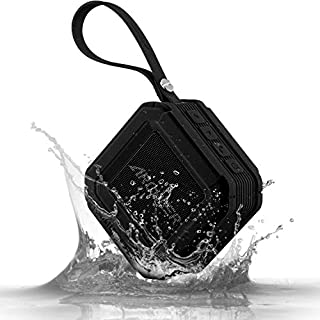 Bluetooth Speakers, Archeer Outdoor Speakers Waterproof Powerful 5W Driver with Microphone 20 Hour Playtime Enhanced Bass for Shower Sports iPhone 6S Plus iPad Samsung Glaxy S7 MP3, A106 Black