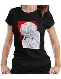 Ken Keneki Tokyo Ghoul Blood Splatter Women's T-Shirt