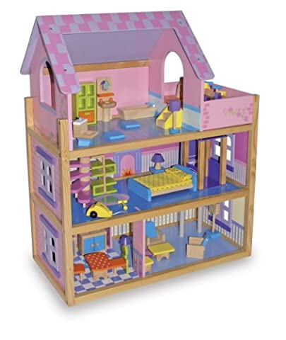 Grande Maison Playmobil - Grande maison en bois meublée, pour poupées