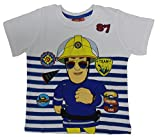 Feuerwehrmann Sam Jungen T-Shirt (110 (5 Jahre), Weiß)