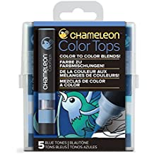 Camaleón Art productos camaleón color Tops, Azul tonos 5-pen Set