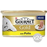 Purina Set 24 Gourmet Chicken Mousse Gold Delicate Gr 85 Food For Cats