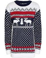 London Knitwear Gallery Christmas Reindeer Snowflake Fairisle Jumper Retro