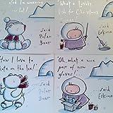 Mini 'osos' Navidad tarjetas de Navidad, con sobres, (Teddy), niños/niños, color 20 Polar Bears