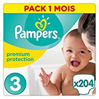 PAMPERS New Baby T3 - Pack 1 mois - 204 couches - Fabricant : PAMPERS - Code EAN : 4015400855293