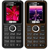 KECHAODA ONEANTWO (1+1=2) D6 Black+ D6 Coffee Dual Sim Mobile Combo Of Two With 1800 Mah Battery Capacity , Vibration Feature And 1 YEAR Manufacturer Warranty