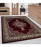 Orientteppich Klassischer Orientalisch Traditional Webteppich Schwarz Rot Beige - 240x340 cm